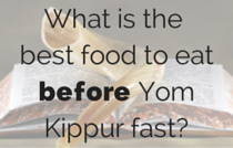 what is the best food to eat before fasting